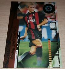 CARD CALCIATORI PANINI 2001 MILAN SHEVCHENKO CALCIO FOOTBALL SOCCER ALBUM