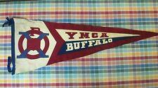 Large Vintage YMCA BUFFALO Sewn Wool Pennant - Circa 1920