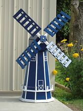 5 ft. Octagon (8 sided) Poly Dutch Windmill (Patriot Blue with White Trim)