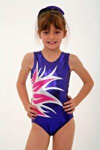 Purple Pink girls gymnastics leotard age 11-12 Size 32 - CXL