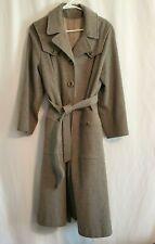 Dee Dee Deb Gray Winter Wool Coat Women's Size ? Vintage Full Length With Belt