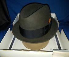 Vintage Men's Brown Stetson Fedora Hat 3X Beaver 6 7/8 in Original Box