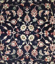 Remarkable Round - Blue Indian Rug - Floral Design - Oriental Carpet - 6 ft.