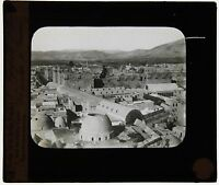 Damasco Targa Di Proiezione Per Lanterna Magica Vintage Ca 1900