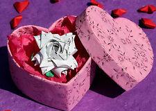 Fiore DI CARTA ORIGAMI rose. adatto per San Valentino, Anniversario, Compleanno Regalo
