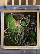 Zombiedan 'Take Note' Original Painting- Green Colourway. Stunning!