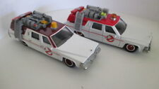 Lot of 2 different color versions Hot Wheels GHOSTBUSTERS ECTO-1 red & dark red