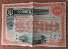 More details for west shore railroad company 1946 $1000 share certificate