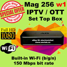 MAG 256 W1 IPTV OTT Set Top Box Internet TV STB Receiver Built In Wifi USB