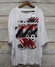 Sean John Big Mens Size 3XB White City Graphic T-Shirt New