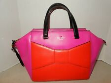 Kate Spade Large Fuschia and Orange Leather Tote Bag    NWOT