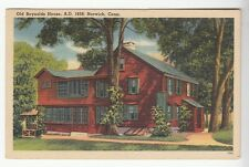 [52225] 1951 POSTCARD OLD REYNOLDS HOUSE IN NORWICH, CONNECTICUT