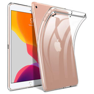 """100% Slim Thin Clear Gel Case Cover for Apple iPad 10.2"""" (2020) 8th Generation"""