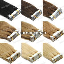 Remy Indian Human Hair Extensions Seamless Tape in Skin Weft Hair 26Inch Long 7A