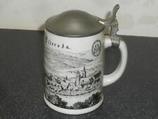 Old Altenkunstadt Germany Pottery Ceramic Pewter Beer Mug Stein German