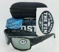 NEW Costa Caballito Sunglasses OSEARCH Tiger Shark Gray Silver Mirror 580G Glass