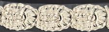 "2&1/2"" Ivory Flower Fabric Trim Bridal Embellishment 7 Yards"