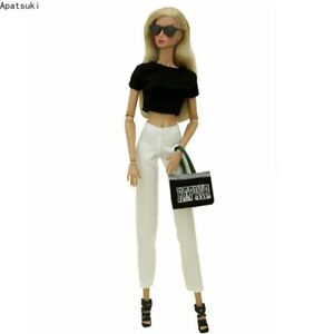 """Fashion Doll Clothes Set for 11.5"""" Outfits 1/6 Accessories Shoes Bag Glasses"""