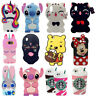 3D Cartoon Animals Soft Silicone Gel Back Rubber Case Cover For iPhone X Samsung