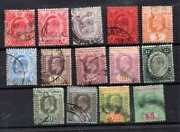 Straits Settlements KEVII 1906 used set to $5 SG153-167 WS19471