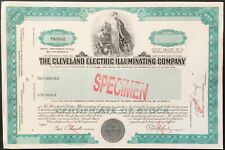 CLEVELAND ELECTRIC ILLUMINATING CO Stock SPECIMEN  1940s. CF Brush. ABNC. EF-UNC