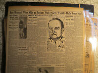 Baseball Ty Cobb Newspaper LIVING LIFE OF COUNTRY SQUIRE + TRACK & FIELD SPORTS