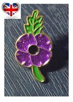 2020 Purple Poppy Animals In War Remembrance Day Pin Badge Brooch Gift