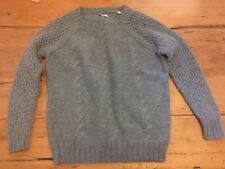 Ladies Jack Wills Wool Jumper Grey Size 10