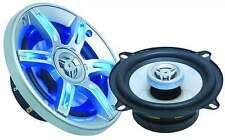 10 cm Auto-Lautsprecher Car-HiFi Einbauboxen 2-Wege-System 2x 200W LED blau rund