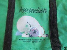 Neiman Marcus Koala Tote Bag Mini Australian Fortnight Dallas Vintage 1986 Green