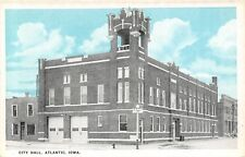 Atlantic Iowa~City Hall~Fire Police Garage Doors~Corner Tower~1916 Sky Tint PC