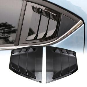 Matte Black Side Window Louver Vent Cover Trim For Mazda 3 Axela 2014-2018