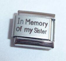 Encanto italiano en memoria de mi hermana-con simpatía me encanta se adapta a 9 Mm De Pulseras