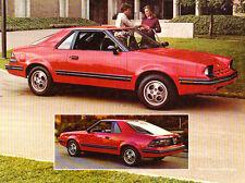 1982 Mercury LN7 Ford EXP like 1-page Original Car Brochure Fact Sheet