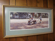 "STEVE HANKS ""THE JOURNEY IS THE GOAL""-Limited Edition Artist Signed Framed Print"