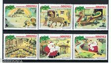 WALT DISNEY DOMINICA CHRISTMAS 6 Francobolli 1981 nuovo