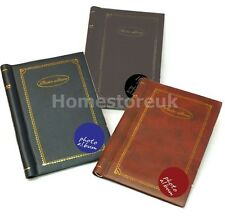 PHOTO PICTURE ALBUM SELF ADHESIVE SHEETS WEDDING BIRTHDAY FAUX LEATHER COVER