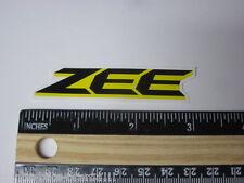 "3"" ZEE Yellow Shimano Frame Mountain Fork Shox Parts MTB Bike Race DECAL STICKER"