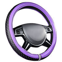 CARPASS Car Steering Wheel Cover Leather Purple Color 5 Stars Anti-slip for Cars