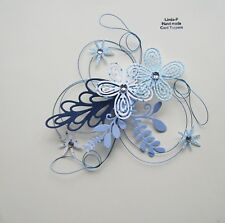 3D  WIRED  CARD CRAFT TOPPER , EMBELLISHMENT GEN 51-04 BLUE