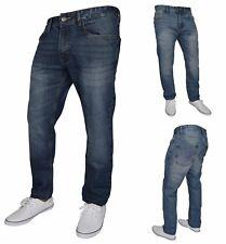 Mens Slim Fit Jeans Straight Leg Denim Pants