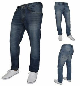 Mens Slim Fit Jeans Stretch Skinny Casual Denim Pants