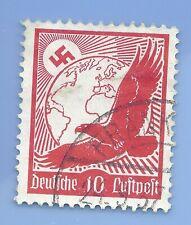 Germany Third Reich Nazi 1934 Nazi Swastika Eagle Luftpost 10 Stamp  WW2 ERA #5