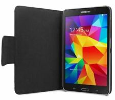 """Samsung Galaxy Tab 4 7"""" Leather Style Folio Case / Cover / Stand - Black - New"""