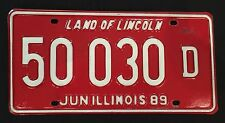 ILLINOIS USED CAR REGISTRATION NUMBER PLATE cafe pub brew garage retro