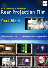 "Dark Black Rear Projection Film: 50""(4:3 Ratio- 1000x750mm), Self adhesive & PET"