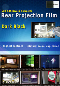 Dark Black Rear Projection Film: A4 sample sheet
