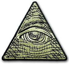 Eye of Providence Patch Applique Iron on Egyptian Masons Pyramid Illuminati Sew