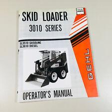 Gehl Hl 3010 Sl3510 Sl3610 Skid Loader Skid Steer Owner Operators Manual