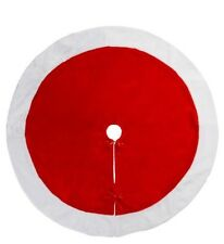 "Peppermint Candy Tree Skirt Red White Cuff Santa Tree Skirt Xmas Tree Decor 48"""